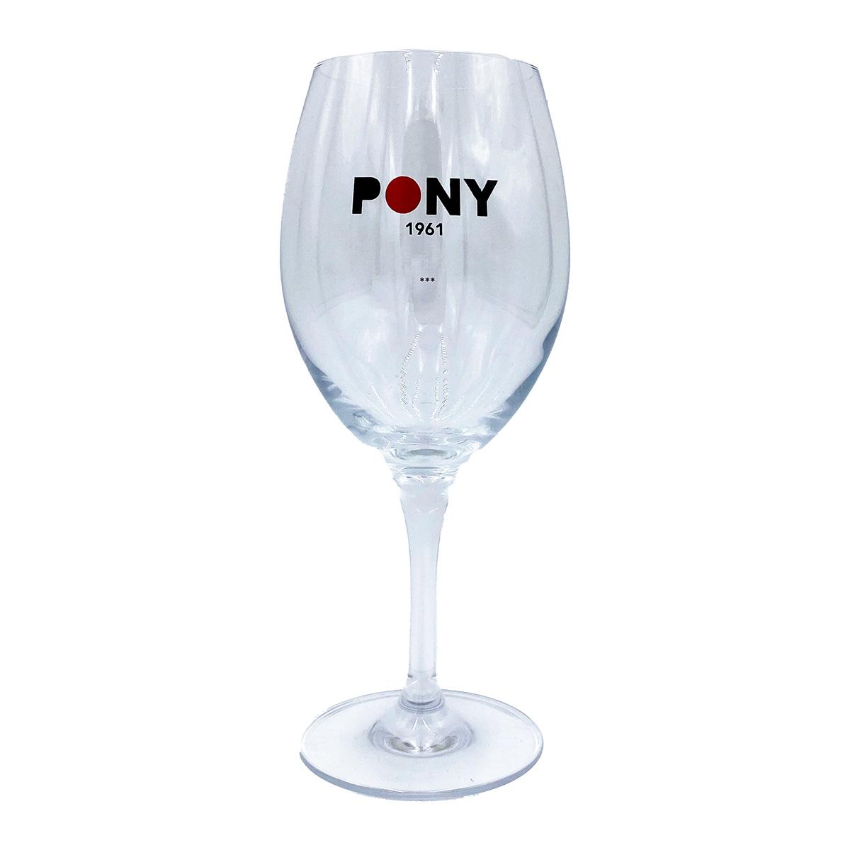 Pony Weinglas Set